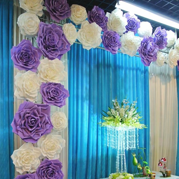 2016 New Popular Artificial Rose Flower DIY Craft Ornament For Wedding Party Backdrop Centerpiece Decoration Supplies 4 Size 5 Colors