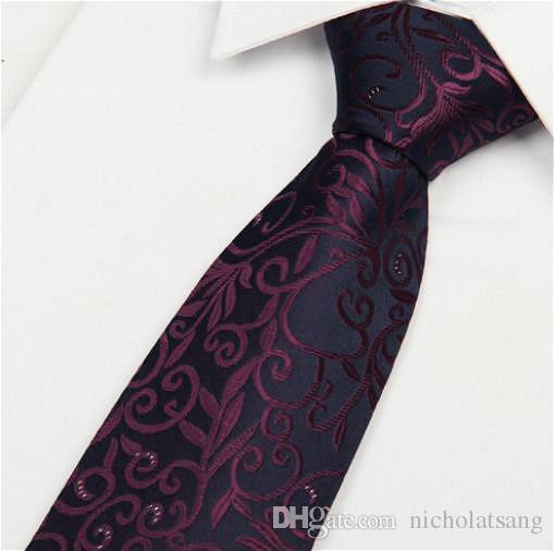8 Stilleri Klasik Çizgili Erkekler Paisley Kravat Yüksek Kalite 100% Ipek Renkli Çiçek Kravatlar Düğün Iş Resmi Kravat Ücrets ...