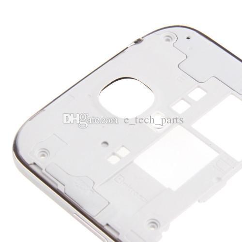Samsung Galaxy S4 İçin Geri Orta Konut Çerçeve i337 I545 L720 orta çerçeve Çerçeve Plaka yedek beyaz renk / vs i9505 i9500