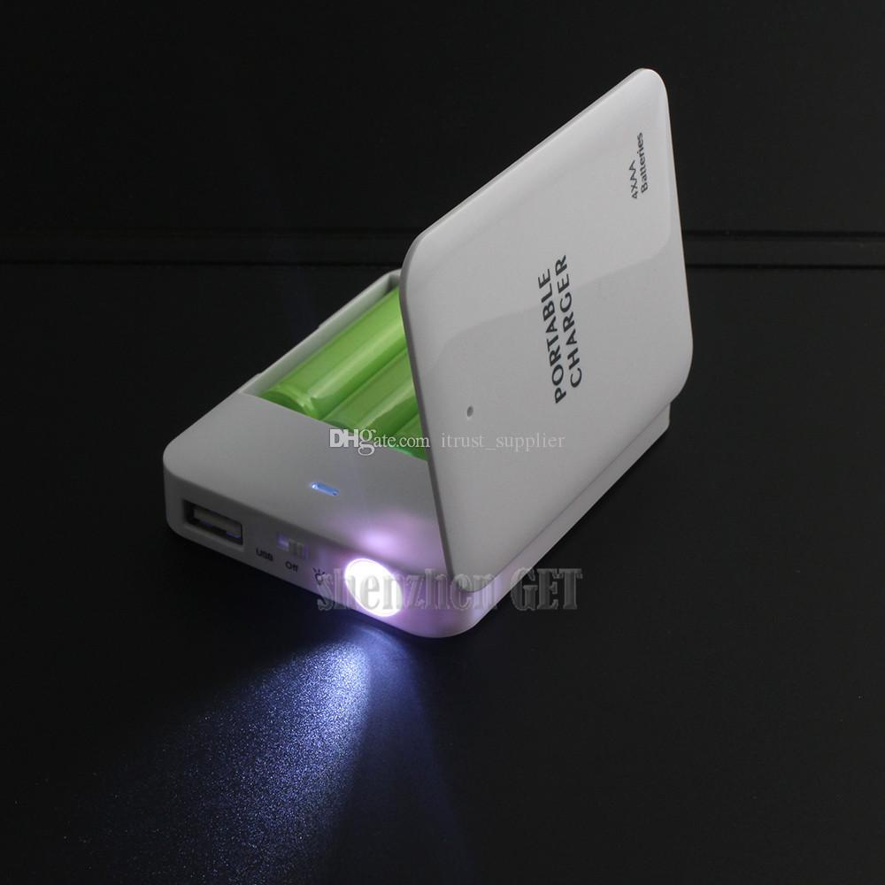 new arrival Powerbank Portable 4X AA Battery Travel Emergency USB Power Bank Charger for Mobile Phone Hgih Quanlity Wholesale