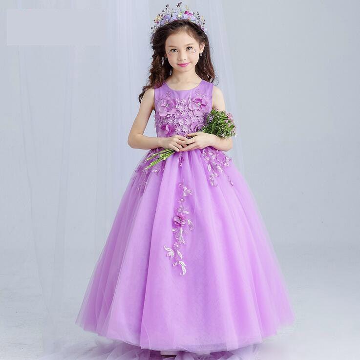 dd965495a Flower Girl Dresses Purple Real Party Pageant Communion Dress Little ...