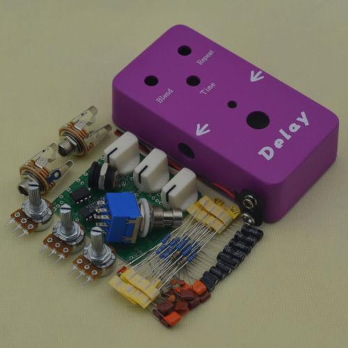 Build your Purple red Delay Face Pedal DIY box kit@DIY Delay PEDAL BOX