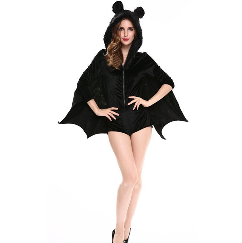 Acquista Nuovo Caldo Le Donne Costume Animale Costume Sexy Vampiro Adulto Cappotto  Con Cappuccio Halloween Costume Cosplay Abbigliamento Nero A  10.9 Dal ... a990f716e67