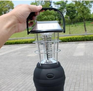 새로운 도착 LED 휴대용 등불 야외 태양 캠핑 랜턴 36 Led 태양 캠핑 램프 태양 손 램프 충전식 라이트 캠핑 랜턴