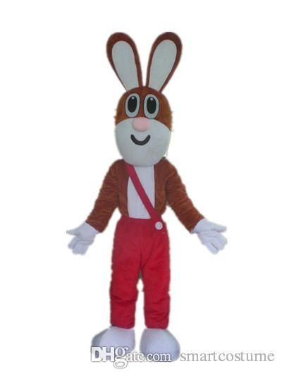 SX0728 Good vision and good Ventilation a brown rabbit mascot costume with  red pant for adult to wear