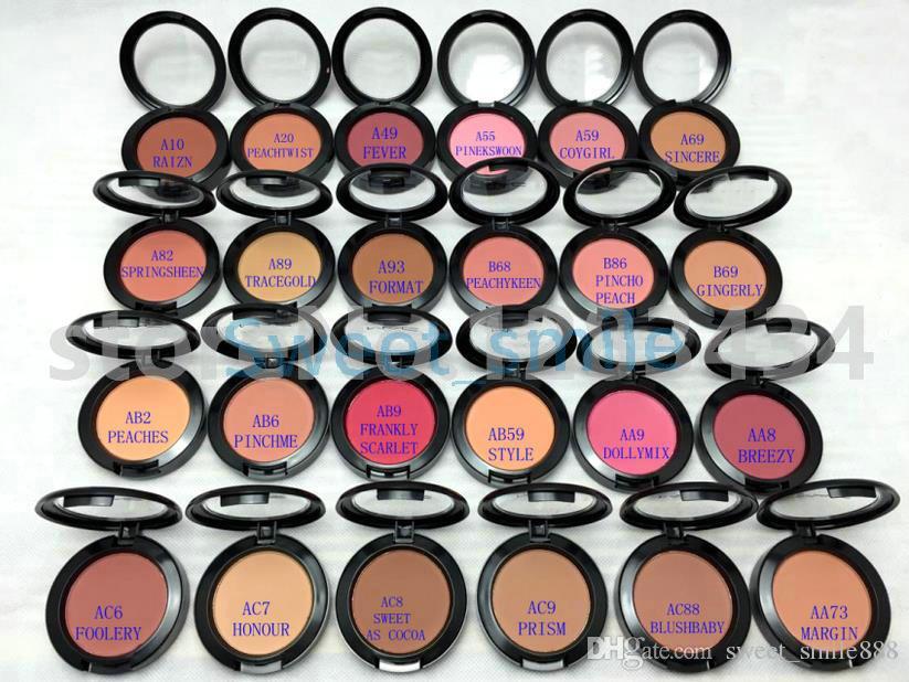 En İyi Kalite Yüz Makyaj Bronzlaştırıcı Allık Pudra İngilizce Adı Ücretsiz Kargo Ile 24 Farklı Renkler 6g