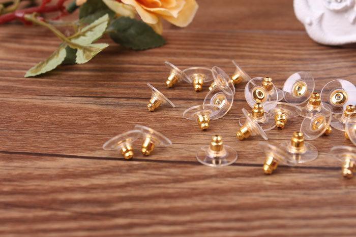 High Quality Earring Ear Stud Backs Stoppers Ear Post Nuts Jewelry Findings Components Gold Silver Earnuts Earrings Back Accessories DIY
