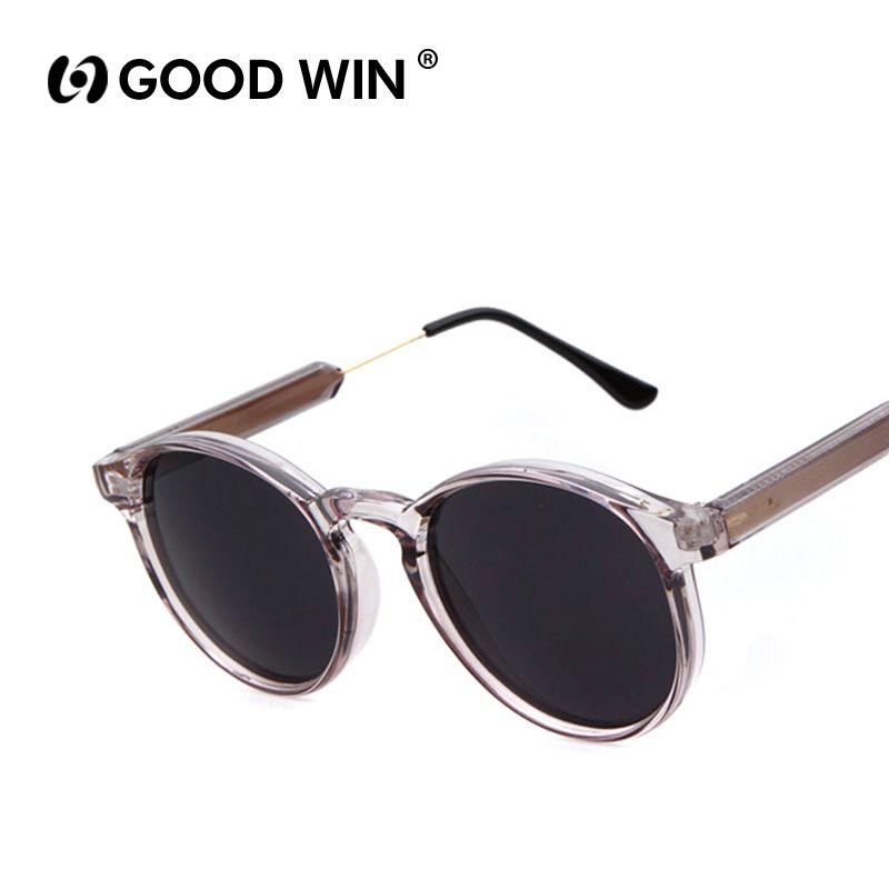 73a65385625 Wholesale-GOOD WIN Vintage Women Round Sunglasses Brand Designer Men  Keyhole Thick Frame Sun Glasses Female Sunglass UV400 Gafas de sol