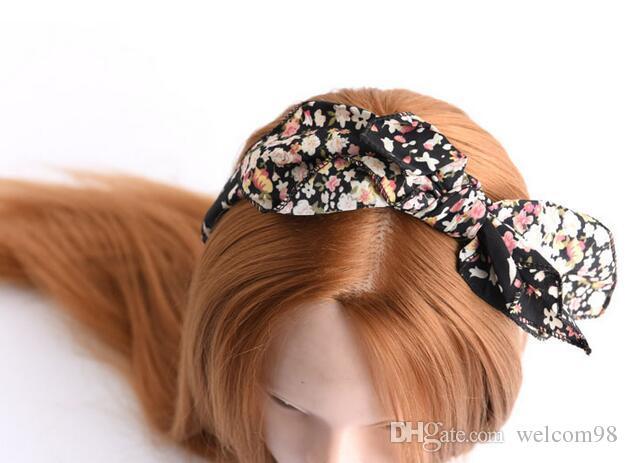 10 unids / lote mezcla color tela de estilo bowknot diademas diademas para la joyera para el cabello regalo de joyería HJ035
