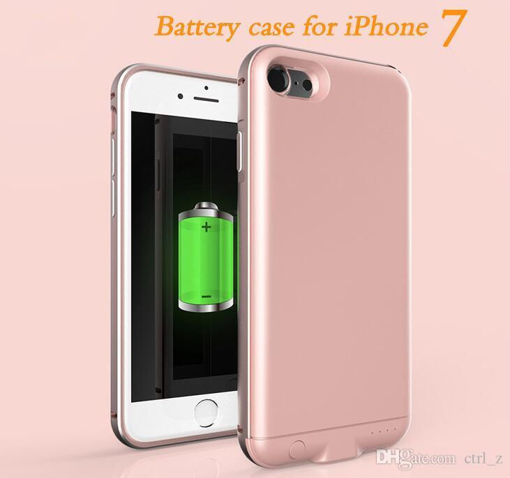for iPhone 7 Power Bank Battery Wireless Charger Case Rechargeable Extended Power Bank Case Pack Backup External Battery Case