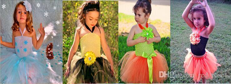 2016 Новое прибытие 20см X 23см Kids Baby Girl 9inch крючком Пачка пробки Tops Chest Wrap Wide вязания крючком повязки