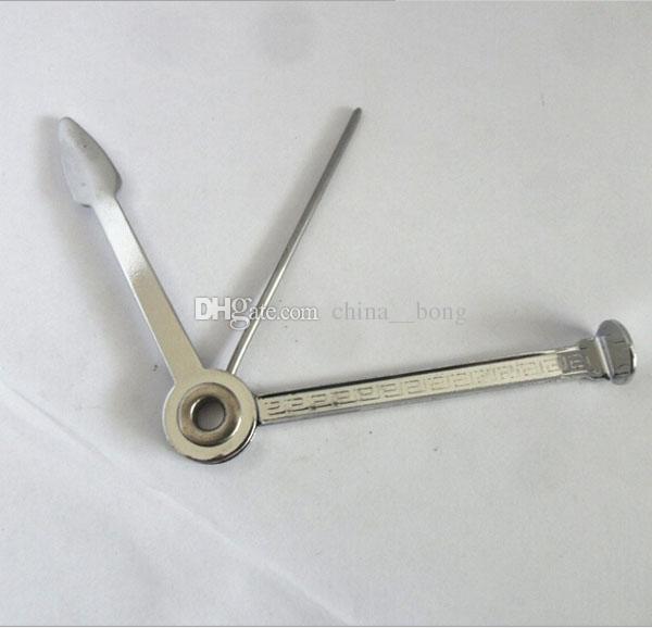 Los fabricantes que venden tipo simple cuchillo plegable tríada pipas de vidrio pipa bong Limpiar herramienta de ceniza envío gratis