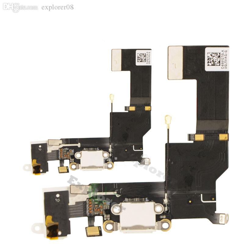 for iPhone 6S 6S Plus 7G 7 Plus 5SE USB Dock Connector Charger Charging Port Flex Cable Headphone Audio Jack microphone Ribbon Replacement
