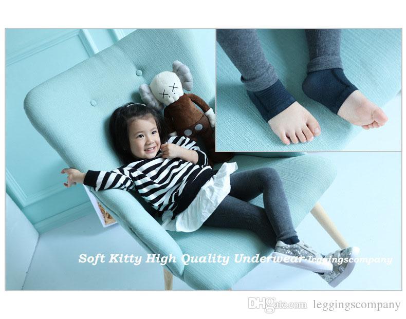 Wholesale High Quality Cute True Colour Cotton stirrup Children Kids Girl Leggings Spring Autumn Autumn