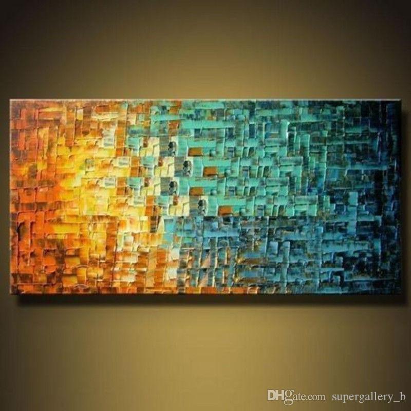 2018 Framed Pure Handicrafts Modern Abstract Home Wall Decor Art Oil