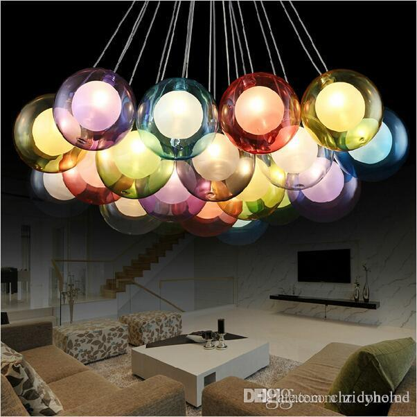 Diy modern led colorful glass pendant lights for living dining diy modern led colorful glass pendant lights for living dining room shop bar home dec g4 glass pendant lamp lampadario moderno hanging ceiling light pendant aloadofball Gallery