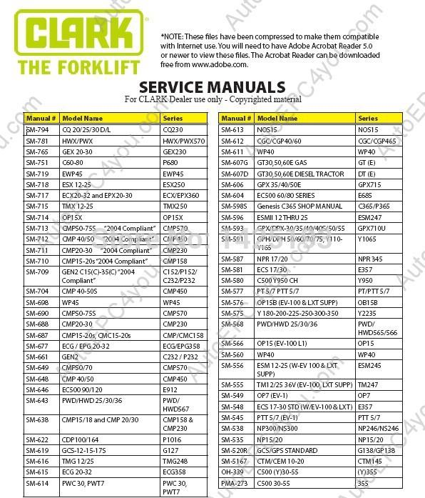 clark service manual 2014 clark service manual 2014 auto diagnosis tools auto diagnostic  at gsmportal.co
