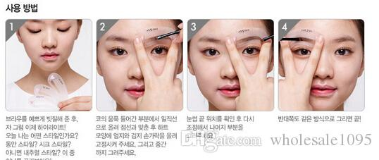 Thrush Card Threading Eyebrow Makeup Tools Threading Artifact Thrush Aid Card Eyebrows Mold Cosmetic Accessories OPP packing YH260