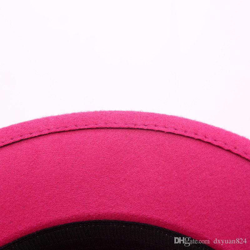 Ladies Derby Deluxe Flower Hat Party Cloche Billycock Bowler Hats Vintage Princess Top Hat Winter Warm Wool Blend Felt Hat
