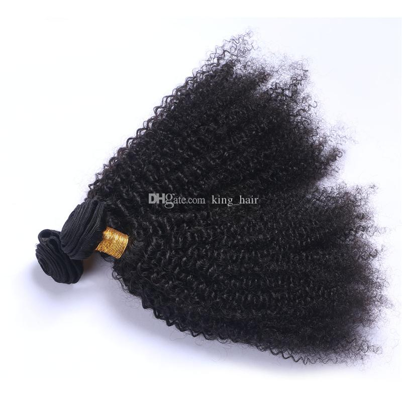 Brazilian 9A Human Hair Extensions Afro Kinky Curly Hair Bundles Unprocessed Kinky Curly Hair Weaves For Clack Woman