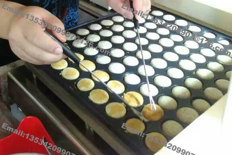 Livraison Gratuite 100 Trous Usage Commercial Non Adhésif Mini Pancake Néerlandais Poffertjes Baker Maker Machine Grill Fer Moule Plaque