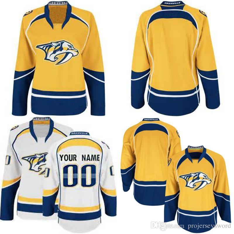 new styles 8f5fb 6198b Lady Nashville Predators Jersey 9 Filip Forsberg 12 Mike Fisher 35 Pekka  Rinne 59 Roman Josi 76 P.K. Subban Custom Hockey Jerseys