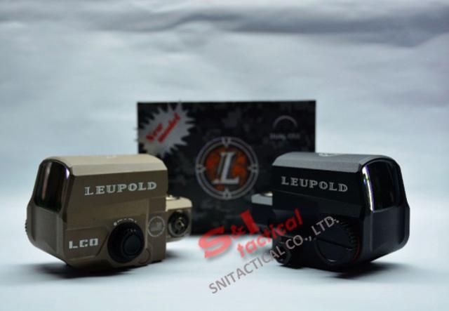 Toptan holografik LEUPOLD LCO Stil kırmızı nokta sight tüfek kapsam herhangi 20mm ray dağı airsoft Siyah uyar