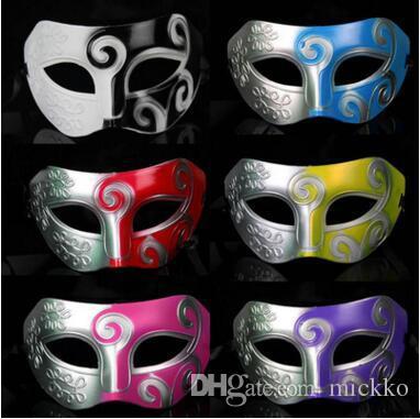 Satın Al Erkekler Yarım Yüz Sprey Boya Masquerade Maskeleri Moda