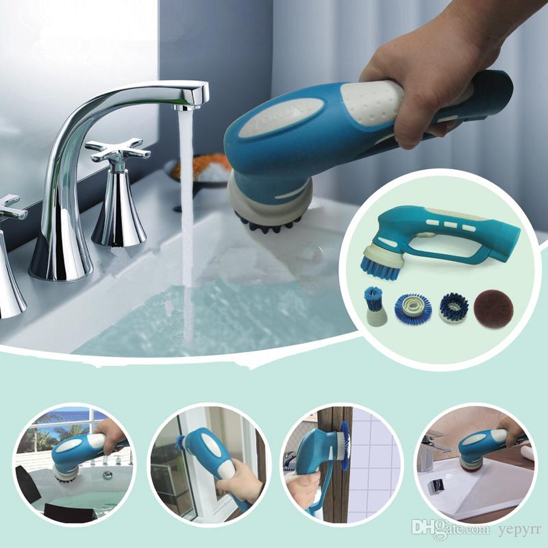 Washable Electric Kitchen Cleaning Brushes Cleaner Tool Kit - Kitchen cleaner
