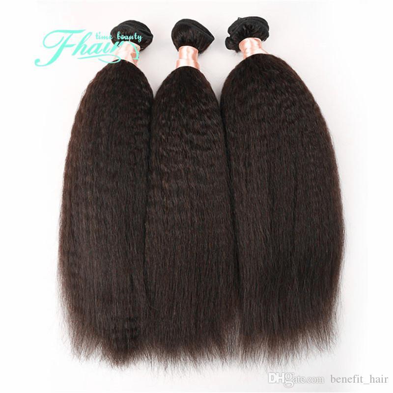 학년 7A / 300gram 몽골어 자연 색상 야키 스트레이트 헤어 번들 저렴 한 몽골어 인간의 머리 무료 배송 DHL