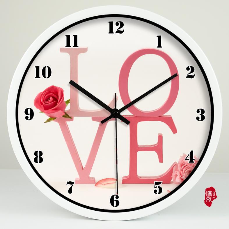 Idyllic Marriage Room Wall Clock Love Couple Photo Wall Decoration ...