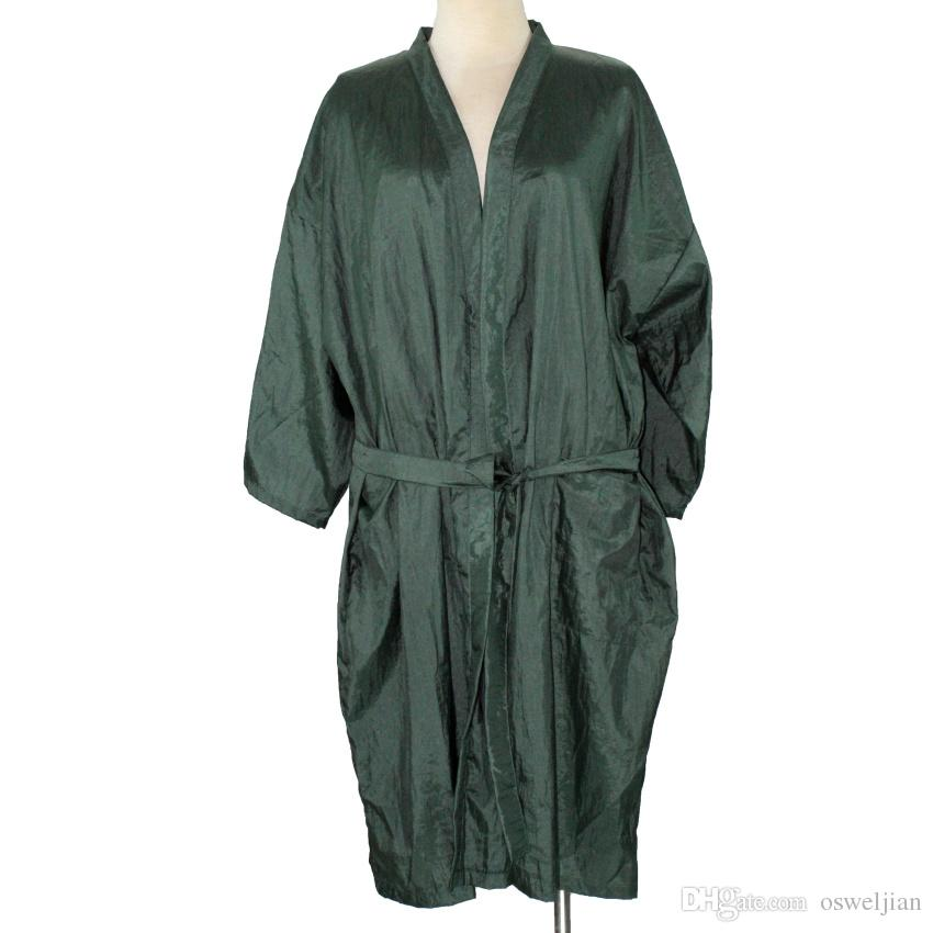 Beauty Salon Hairdressing Kimono Free Size Bathrobe Leisure Spa Kimono Unisex Soft Cloth Anti-static Hair Gown