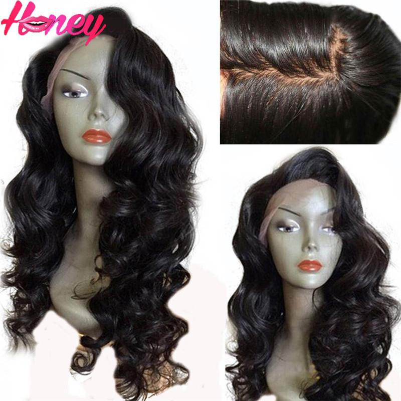 4*4 Silk Top Full Lace Wig Brazilian Virgin Human Hair Body Wave Silk Base Lace Wig with Baby Hair Side part Free ship