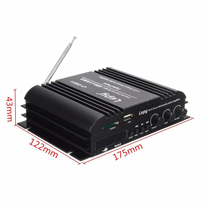 Freeshipping LP - 269 4 channel multifunctional FM SD USB MP3 player remote control digital Stereo audio mini car power amplifier
