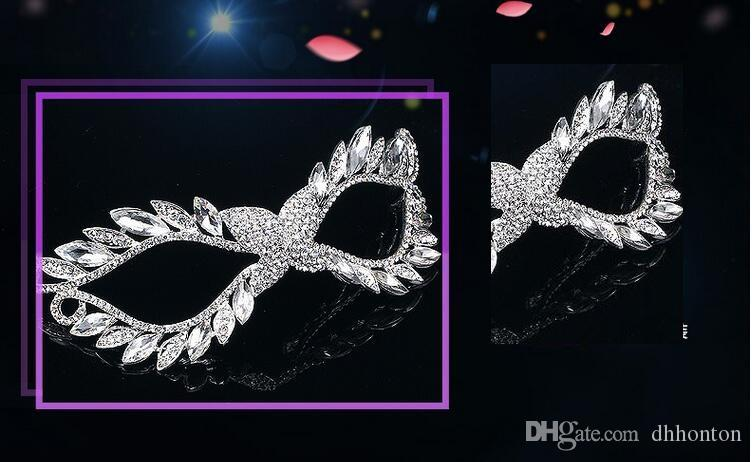 Mask Artificial Diamond alloy crown set auger mask bridal mask artificial crystal masks luxury Costume party supply FJ022