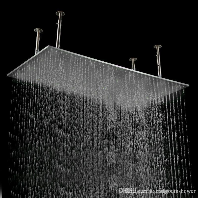 Großhandel Gebürstet Dusche Regen Oben Duschkopf 500 1000mm Decke