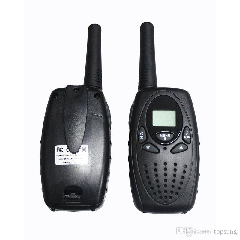 T628 Nero Walkie Talkie PMR446 8 Canali Euro 2 Way Radio FRS / GMRS 22 Canali America PTT Citofono portatile Trasduttore auricolare