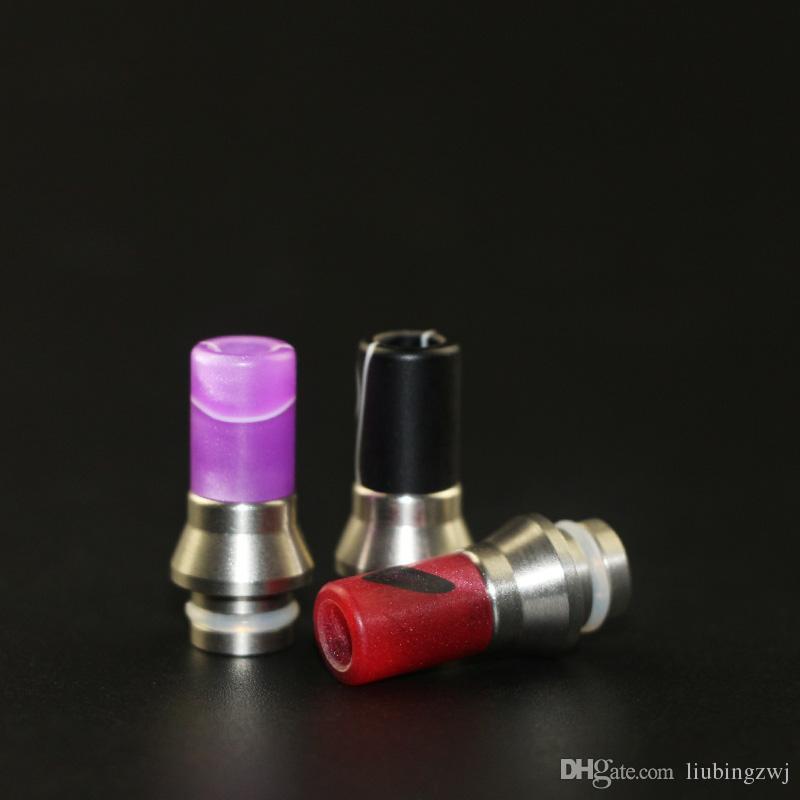 2016 E Cigarette drip tips super drip tip acrylic drip tip o ring end ss tip 510 Drip Tip For RDA Tank Tube Mod
