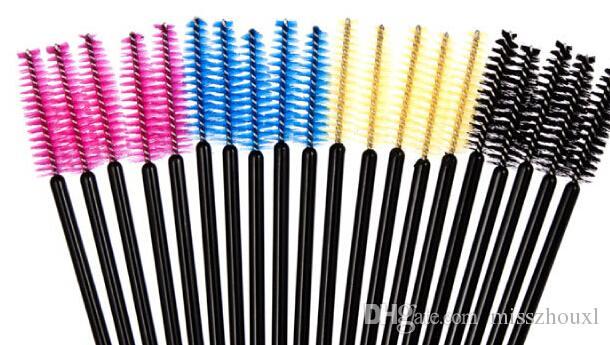 very cheap Disposable Eyelash Brush Mascara Wands Applicator Makeup Cosmetic Tool Pink Blue Yellow Black color Hot Sell