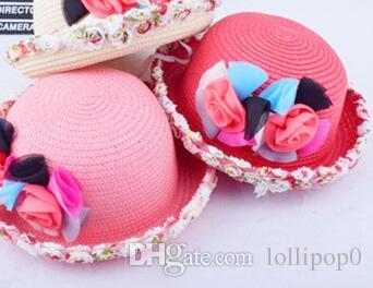 2016 new children hat girl cute flower dome small hat female baby summer  sun hat 316c80df32a