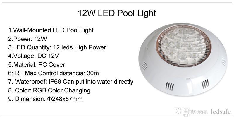 5 قطع الصوت دعم rgb dmx السباحة بركة ضوء piscina 12 فولت أدى الجدار الخيالة أضواء تحت الماء مصباح + 1 قطعة تحكم dmx512 + 1 قطعة امدادات الطاقة