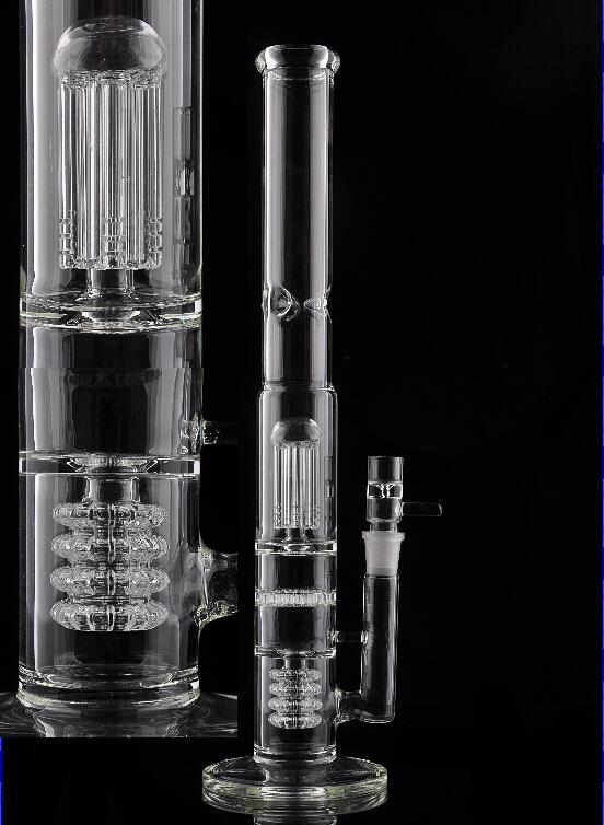 Preço de fábrica Bongo De Vidro de alta-grade de Fumo Bongos de vidro borbulhador de vidro com 3 camada filtrante percussão bongos