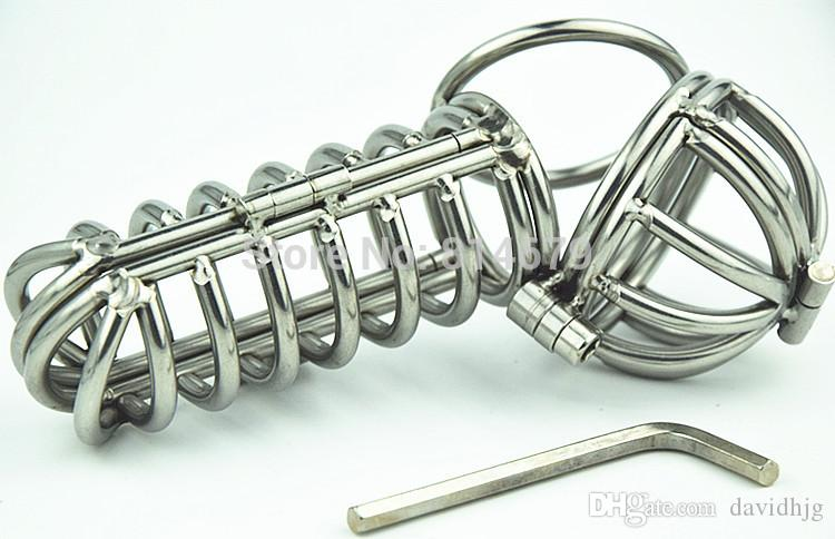 2016Hot sale New Design M056-L Stainless Steel Cock Ring Penis Ring Cock Cage Penis Cage Sex Toys for Men
