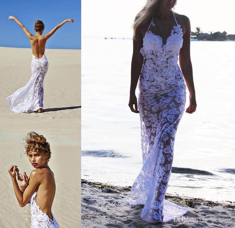 Großhandel Neueste Reizvolle Art 2017 Strand Sheer Brautkleider ...