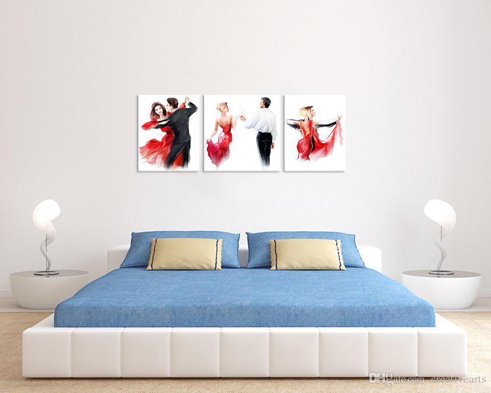 HD Printed Elegant Lady of Lipstick Woman of Perfume Triptych Painting Canvas Art Prints Modern Wall Decoration/VA170810-5