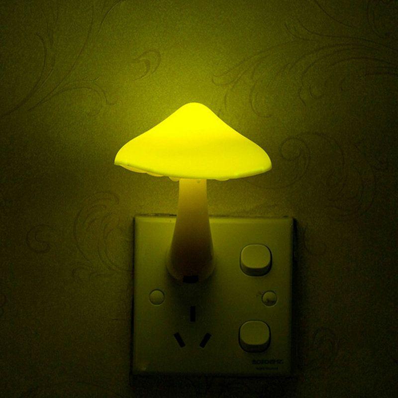 Online Cheap Eu Us Plug Mushroom Wall Socket Light Controlled Sensor Led  Night Light Lamp Bedroom Baby Sensor Wall Plugin Lamp By Suntree_lighting |  Dhgate.