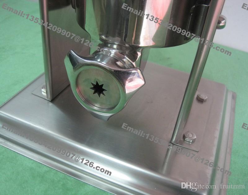 Envío Gratis Uso Comercial Manual de Acero Inoxidable 10L Churros Chishros Españoles Máquina Fabricante de Panadería con 3 Unids Boquillas