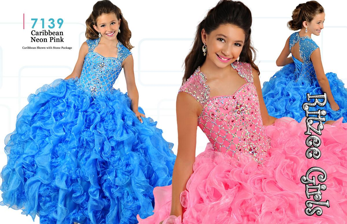 Junior Pageant Dresses For Teens 2016 Ritzee Girls Crystals Beaded ...