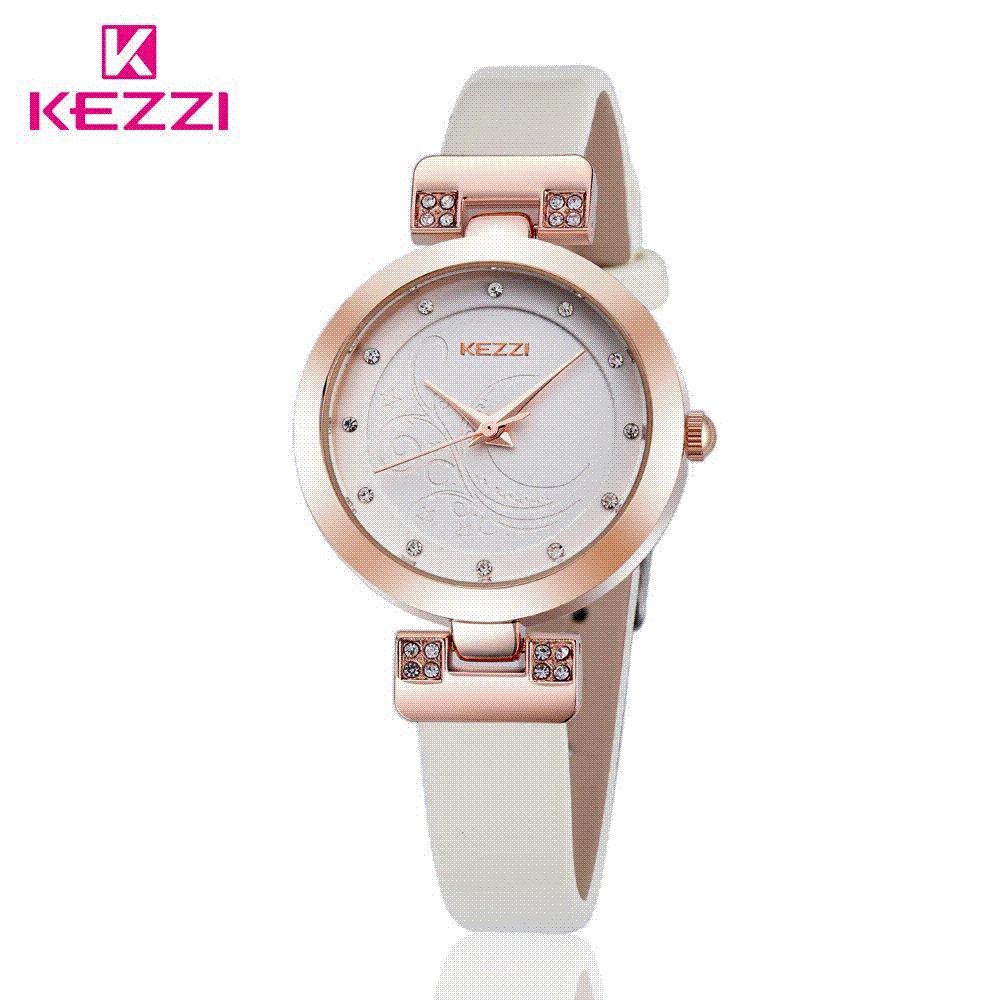 2016 Kezzi Marque de haute qualité Mode Montre Femme étanche Quartz montre bracelet Montre Femme Montre Femme Relojes Mujer Horloges