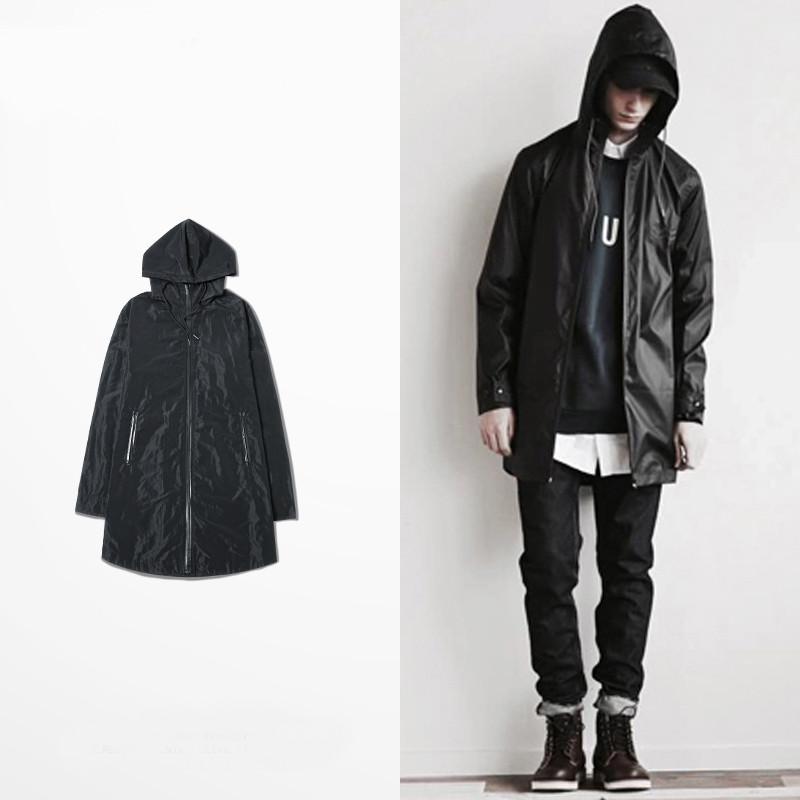 Swag Mens Jackets And Coats Autumn Thin Streetwear Hip Hop Black ...